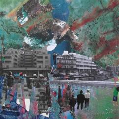 'THE PARADE' COLLAGE 50cm x 50cm £150 (box canvas)