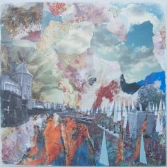 'SQUADRON' COLLAGE 50cm x 50cm £150 (box canvas)