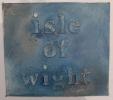 'isle of wight' in fabric/acrylic on board