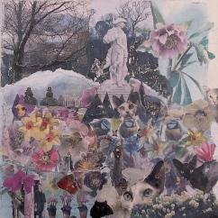 'NAUGHTY KITTY' COLLAGE 50cm x 50cm £150 (Box canvas)
