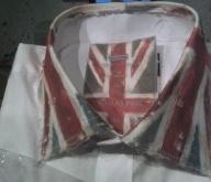 Close up of collar detail (embellished shirt for Thomas Pink)