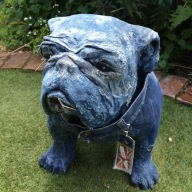 Standing bulldog for shop display
