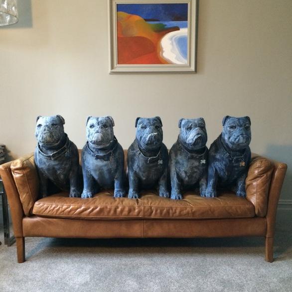 Denim dogs for visual merchandising