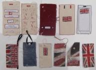 Reverse of label samples for embellished shirts