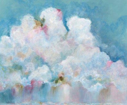 'Seeking happiness' £695 120cm x 100cm Acrylic on box canvas