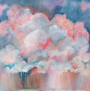 'Summer storm' £650 1m x 1m Acrylic on box edge canvas