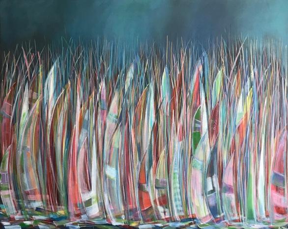 'Parked Up' Acrylic on box edge canvas 150cm x 120cm £895