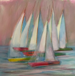 Regatta time SOLD available through Seaview Art Gallery