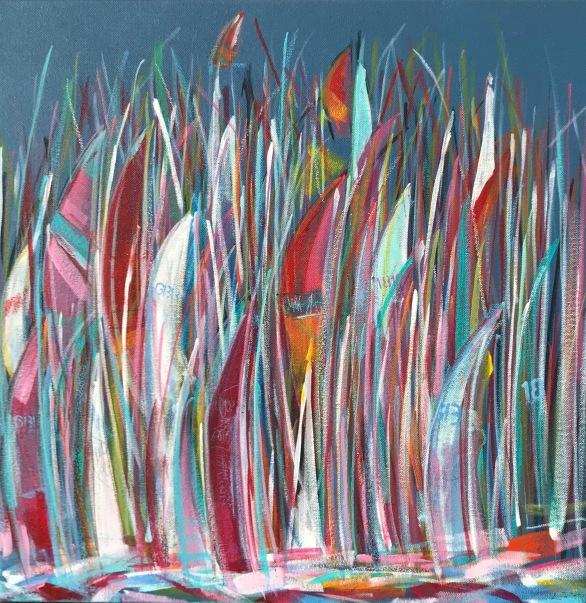 'Round the Island -again' Acrylic on box edge canvas 50cm x 50cm £250